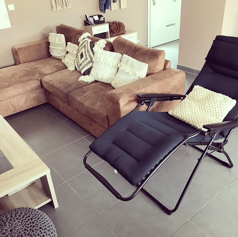 fauteuil de relaxation futura air comfort taupe lafuma mobilier. Black Bedroom Furniture Sets. Home Design Ideas