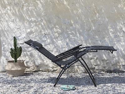 Fauteuil de relaxation LAFUMA Mobilier en position zéro gravité