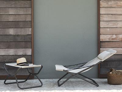 Bain de soleil installé sur une terrasse