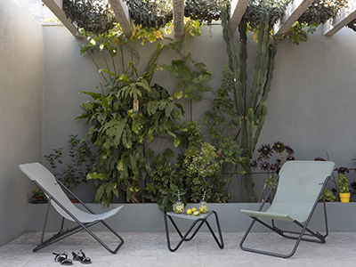 A little corner of paradise set within a plant-filled patio