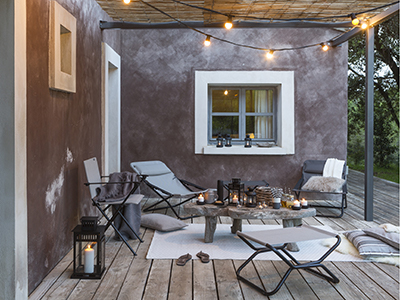 Small inviting outdoor space, perfect for summer evenings