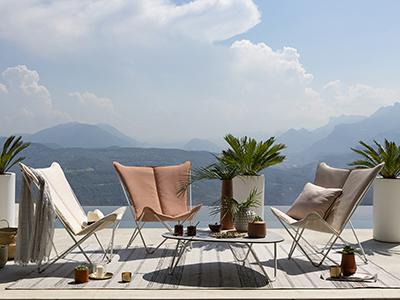 Sphinx Hedona sur une magnifique terrasse avec vue sur la mer