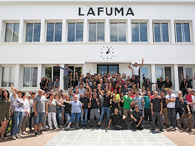Associates LAFUMA Mobilier at the LAFUMA headquarters, based in Anneyron, in the Drôme region