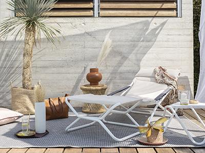 Transabed Hedona auf einer hübschen Terrasse