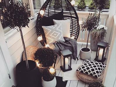 Repost @beautifulinteriors : Schöne Loggia in einem Cocooning-Ambiente