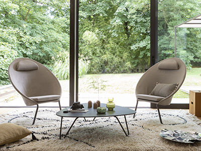 Cocoon Hedona Latte in a designer interior with soft, simple colours