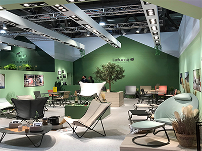 LAFUMA Mobilier Stand at the Milan exhibition in 2019
